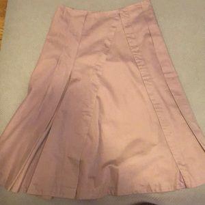 Below the Knee Purple Skirt with Pleats